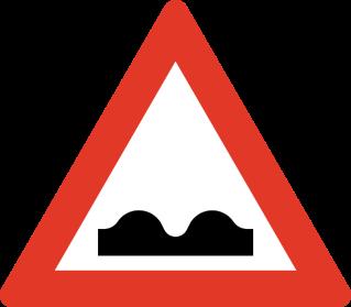 Fareskilt_Bumpy Road