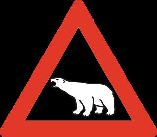 Fareskilt_Polar Bear