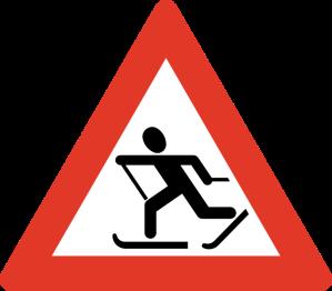 Fareskilt_Skiløper