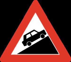 Fareskilt_Steep Hill