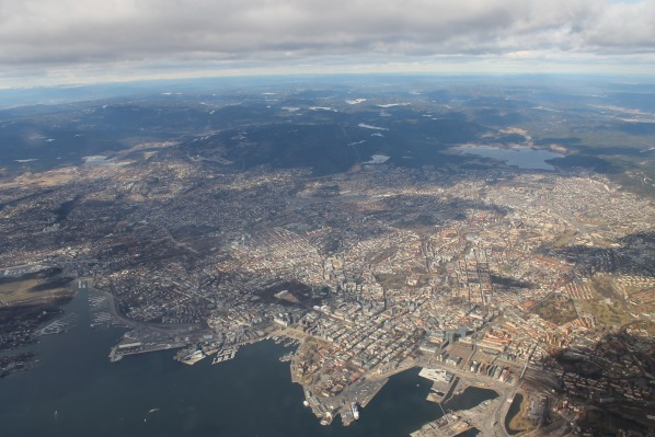 Oslo from above, april 2012