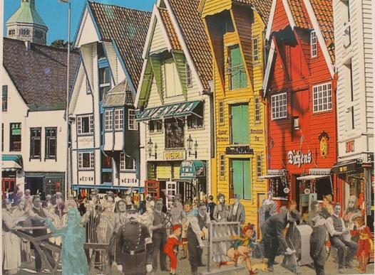 Bryggen i Bergen, Peter Blake resized