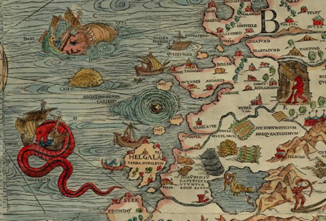 Maelstrom Carta Marina 1539