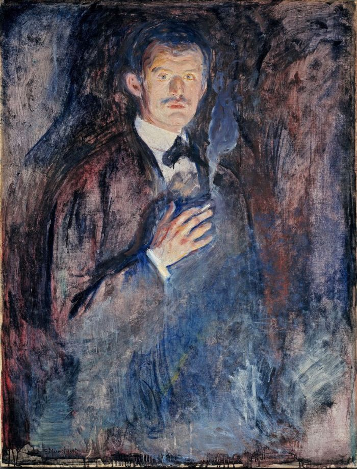 Munch 150. Self-portrait with a cigarette, 1895