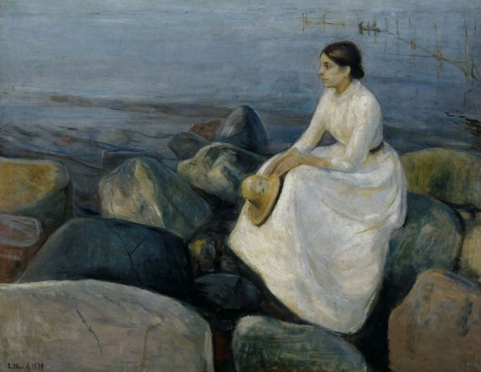 Munch 150. Summer Night - Inger on the Beach, 1889