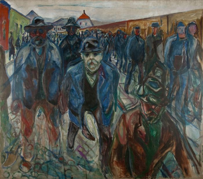 Munch 150. Workers on their Way Home, 1913-14