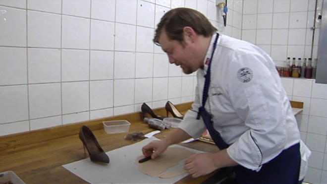 Chocolate shoe maker
