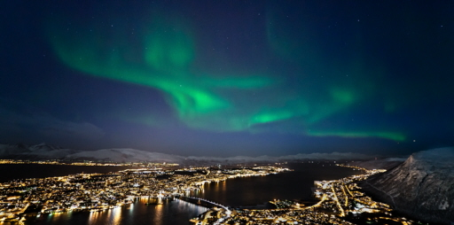 Northern Lights Over Tromsoe
