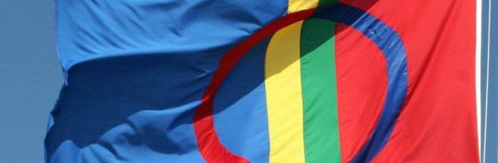 Sami Flag in the Wind