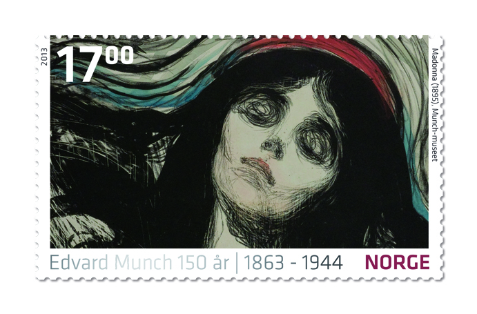 Stamp Edvard Munch - Madonna