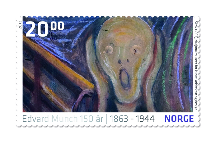 Stamp Edvard Munch - The Scream