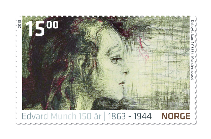 Stamp Edvard Munch - The Sick Child