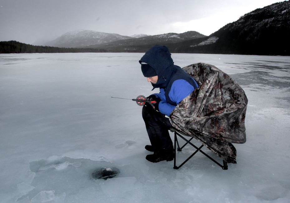 Ice Fishing for Arctic Char and Trout in Western Norway