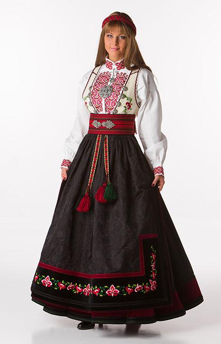 Long Black Linen Skirt
