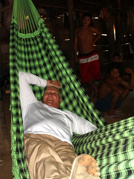 King Harald in Hammock Yanamami People