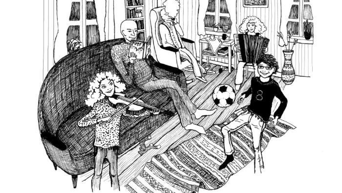 Familien Kråkestup Mona Brekke ill.
