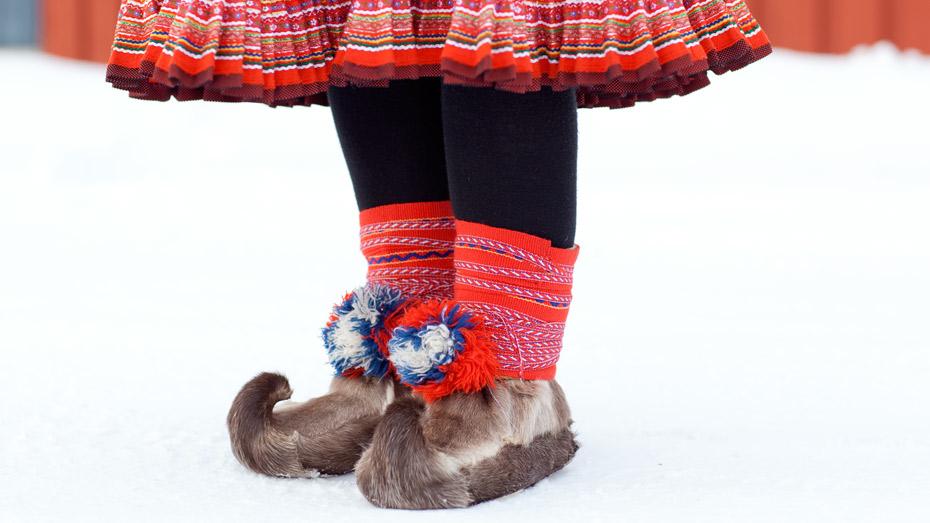 Traditional Sami Reindeer Fur Boots: Skaller