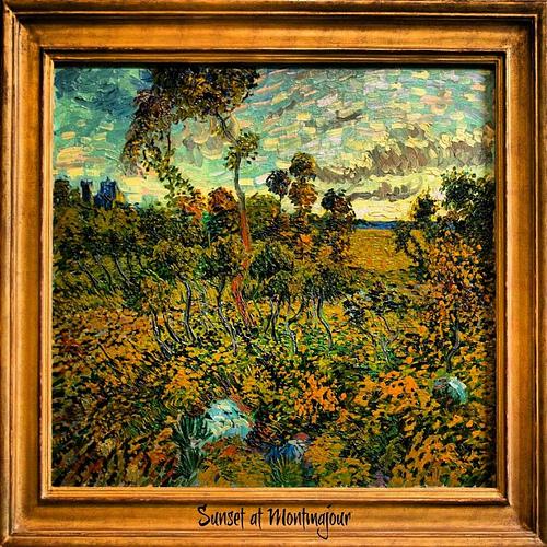 Sunset at Montmajour Vincent van Gogh