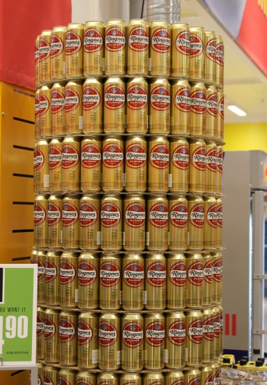 Beer Tower in Norwegian Stores