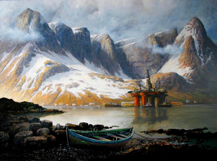 Oil Drilling in Lofoten Groven