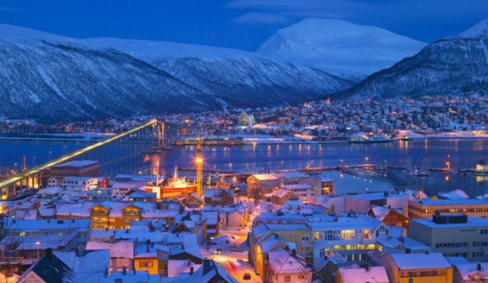 Polar Night Tromso Northern Norway