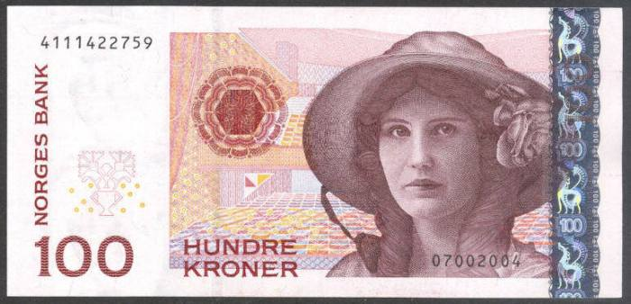 100 Krone Note Norway
