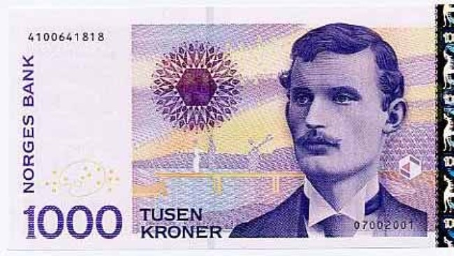 1000 Kroner Note Edvard Munch