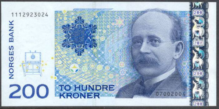 200 Krone Note Norway