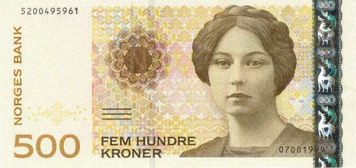 500 Krone Note Norway