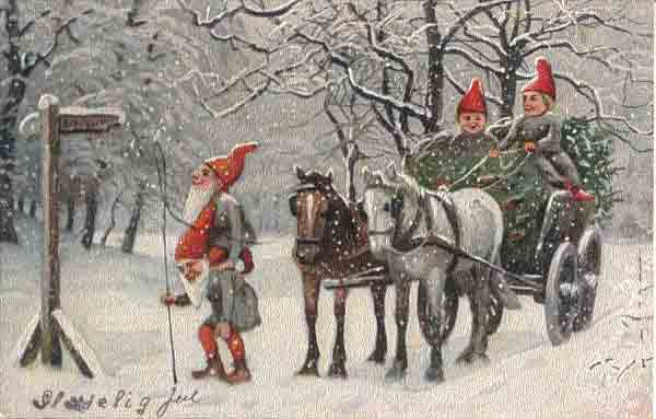 Norwegian Christmas.Old Norwegian Christmas Cards