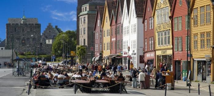 Bergen Wharf Bryggen in Bergen UNESCO