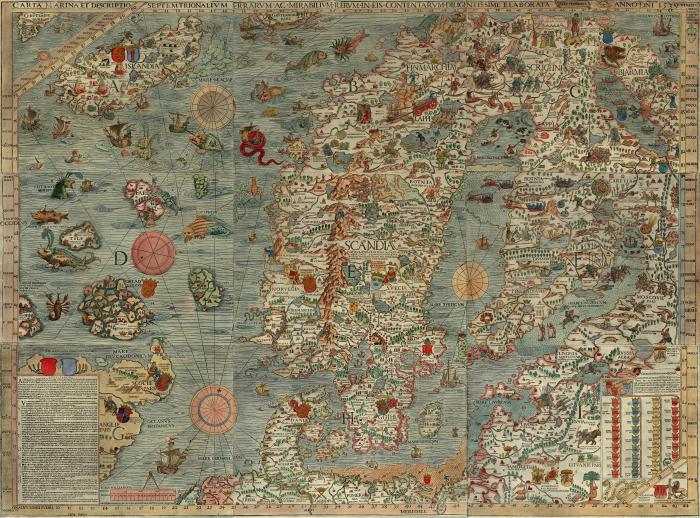 Carta Marina Scandinavia