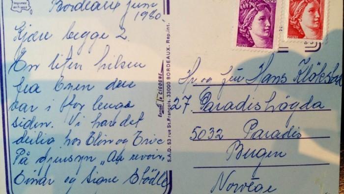 postkort fra Bordeaux