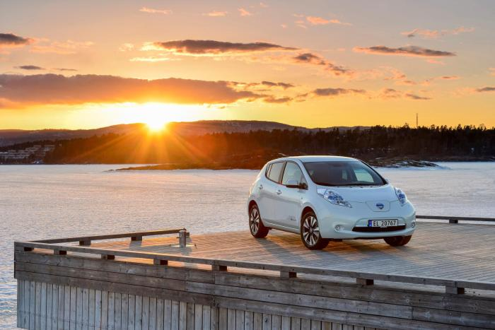 Battery-powered Nissan Leaf Norway's Most Sold Car