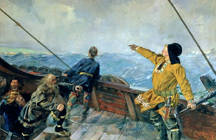 Leiv Eriksson Discovers America by Christian Krogh