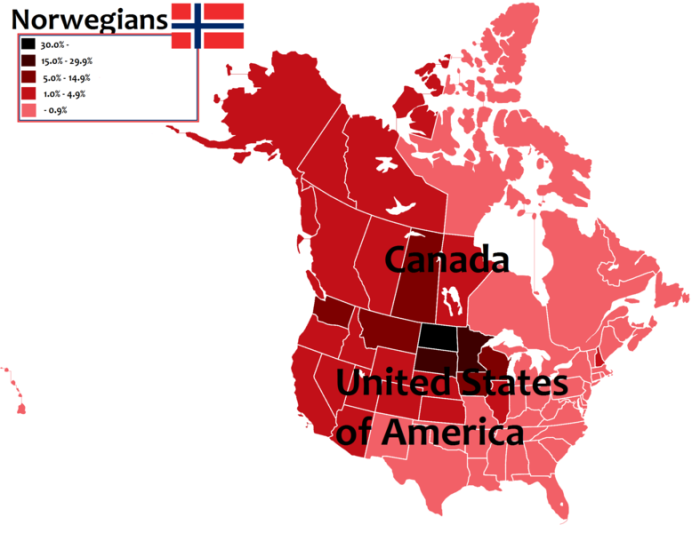 Norwegian Descendants in the U.S and Canada