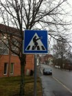 Silly Walks Pedestrian Warning Sign Norway