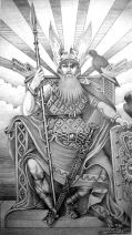 Odin, from Old Norse Óðinn, is the Allfather of the Norse gods and the ruler of Asgard. (Illustration: Victor Villalobos, Wikimedia Commons)