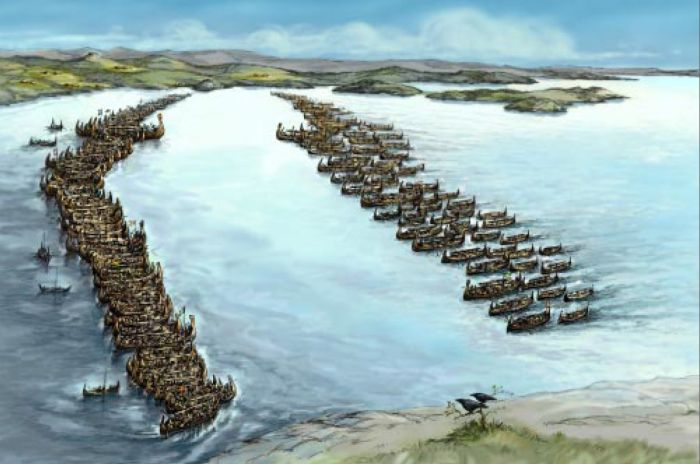 The Viking Naval Battle of Hafrsfjord 872 AD