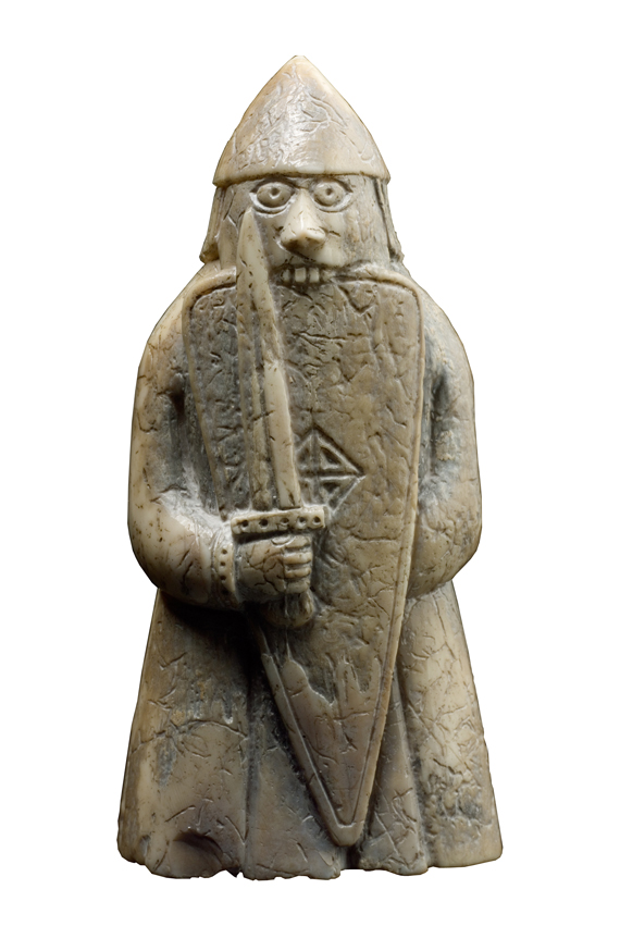 Norse berserker warriors as medieval chess pieces thornews - Lewis chessmen set ...