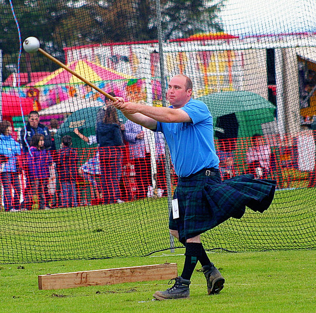 Hammer Throw Highland Games