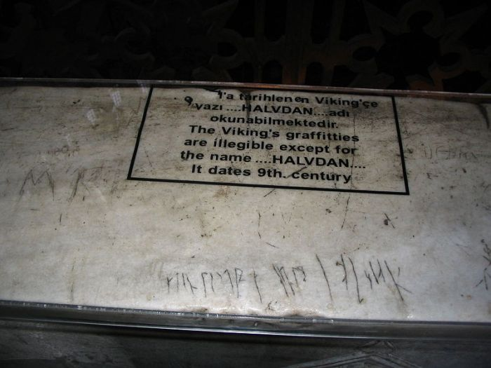 Viking Grafitti Hagia Sophia 9th Century