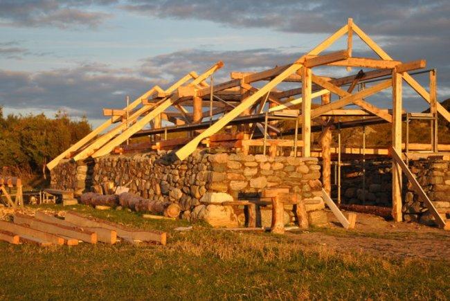 Byggeprosess jernaldergård 2