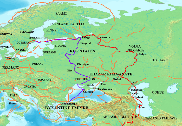 Norse Trade Routes 8th to 11th Century