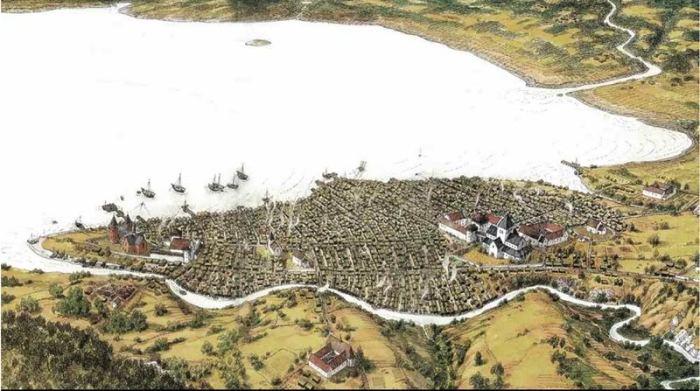 Oslo Old Town Karl Fredrik Keller c 1300