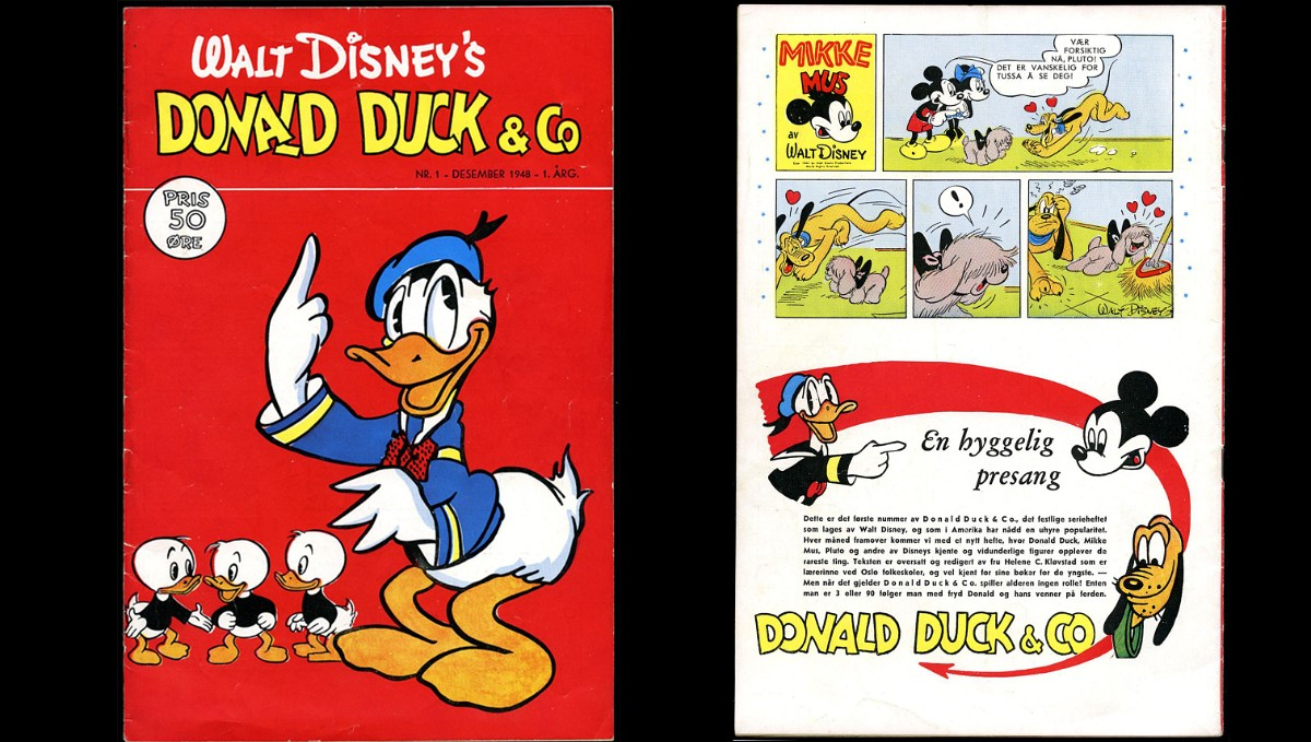 norway s first donald duck comic book sold for 18 560 dollars. Black Bedroom Furniture Sets. Home Design Ideas