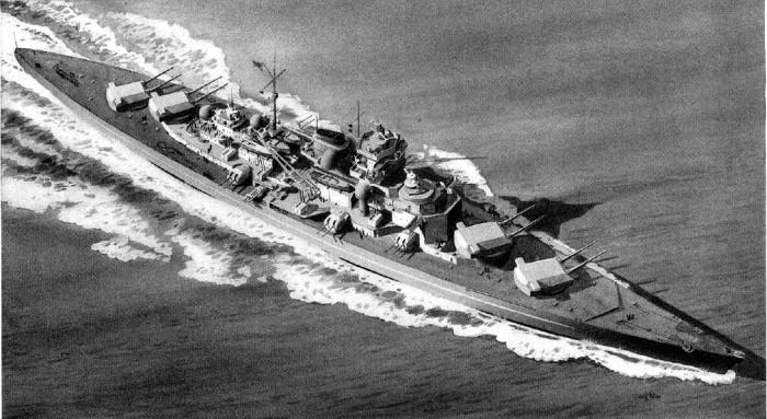 German Battleship Tirpitz Recgonition Drawing