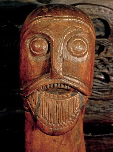Man's Head Oseberg Viking Ship