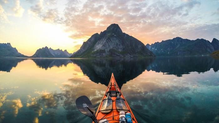 Close to Reine in Lofoten Norway Kayak