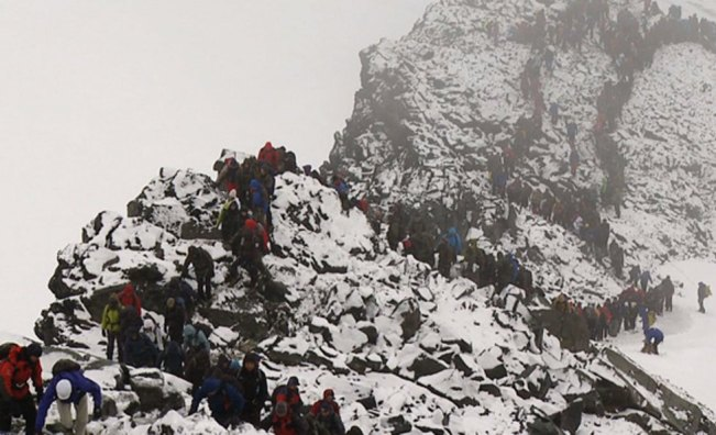 Most People on a Mountain Top